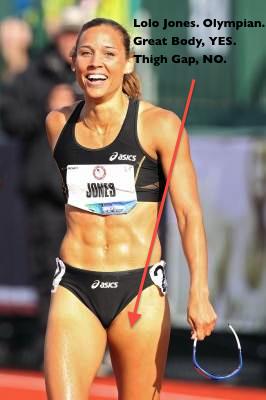 Lolo Jones. Amazing Body, no thigh gap. via www.chicagonow.com
